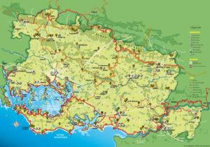 Carte de randonnée dans le pays de Vannes